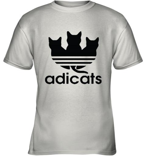 Adicats Three Black Cats Adidas Logo Mashup Youth T-Shirt