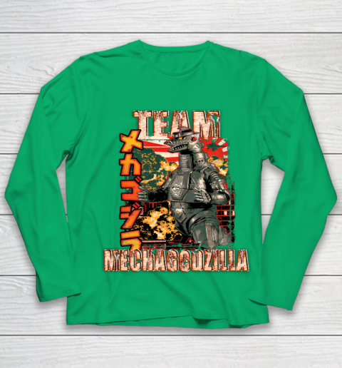 Team Mechagodzilla Japan Vintage Style Youth Long Sleeve 4