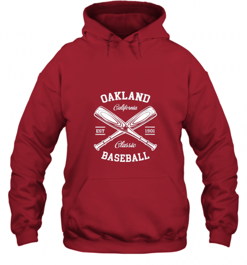 cyzm oakland baseball classic vintage california retro fans gift hoodie 23 front red