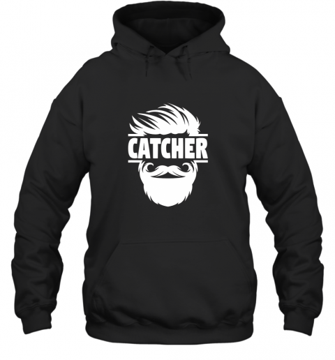gqyp bearded baseball catcher hoodie 23 front black