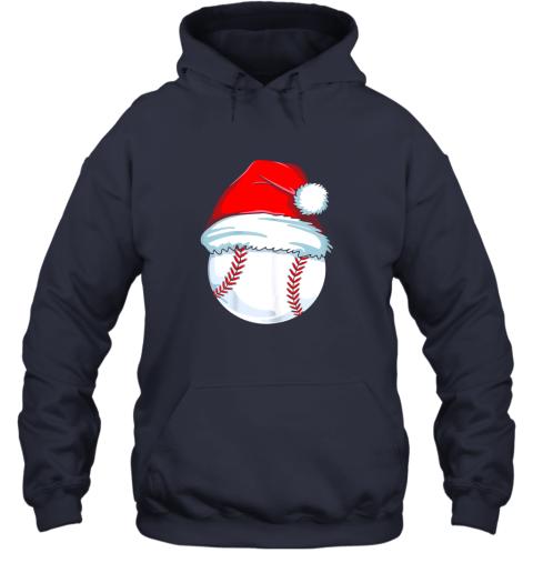 9tp2 christmas baseball shirt for kids men ball santa pajama hoodie 23 front navy