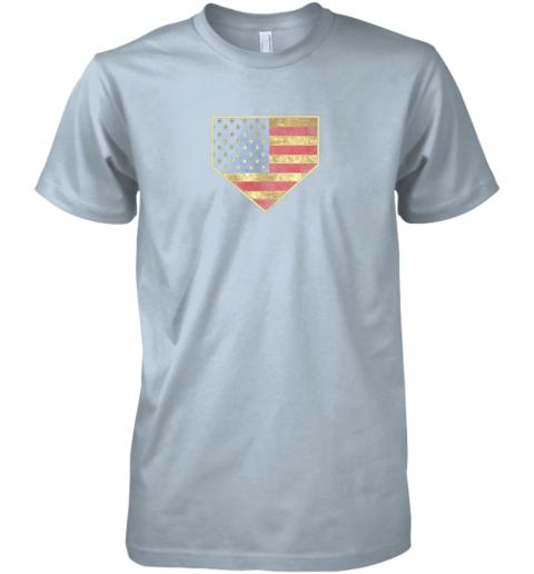 uj4v vintage american flag baseball shirt home plate art gift premium guys tee 5 front light blue
