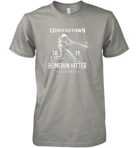 9ksc cooperstown home run hitter premium guys tee 5 front light grey
