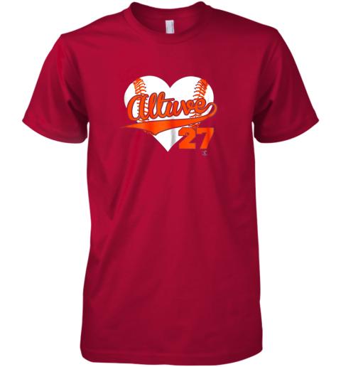 yogf jose altuve baseball heart shirtapparel premium guys tee 5 front red