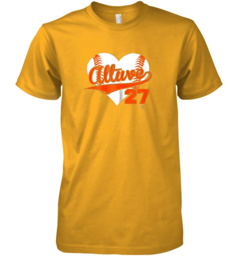 yogf jose altuve baseball heart shirtapparel premium guys tee 5 front gold