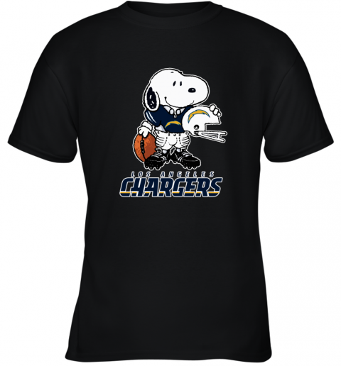 Snoopy A Strong And Proud Los Angeles Chargers NFL Youth T-Shirt