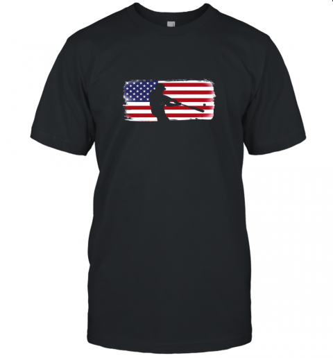 USA American Flag Baseball Player Perfect Gift Unisex Jersey Tee