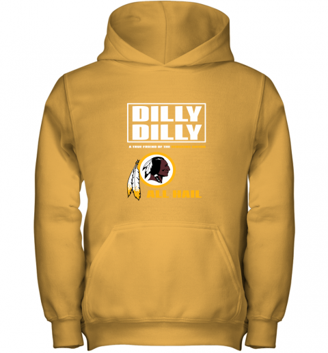 5j5v a true friend of the redskins youth hoodie 43 front gold