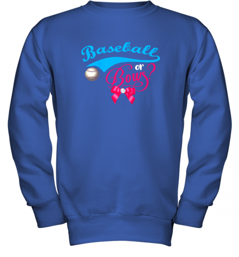 luzl cute baseball or bows gender reveal party youth sweatshirt 47 front royal