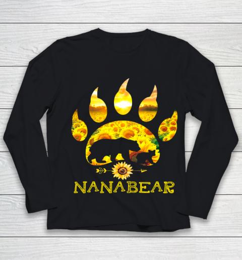 Nana Bear Sunflower T Shirt Funny Mother s Day Youth Long Sleeve