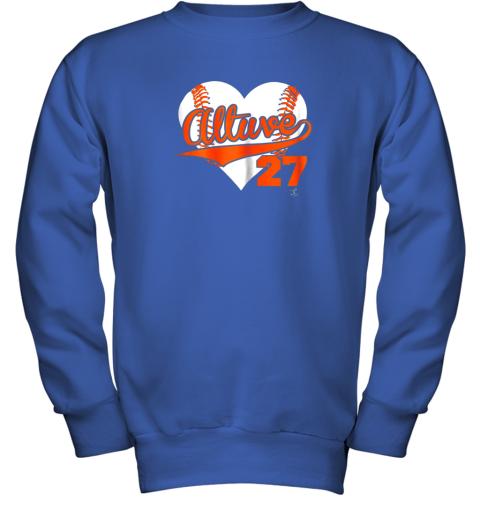 wdkq jose altuve baseball heart shirtapparel youth sweatshirt 47 front royal
