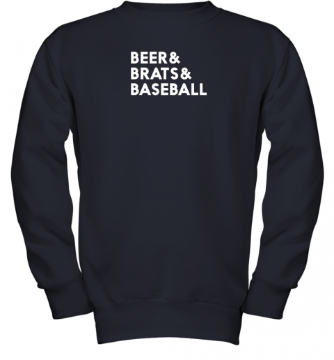 1y7g beer brats baseball summer ampersand list youth sweatshirt 47 front navy