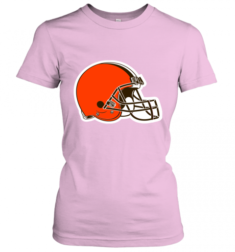 8oqz cleveland browns nfl pro line by fanatics branded brown victory ladies t shirt 20 front light pink