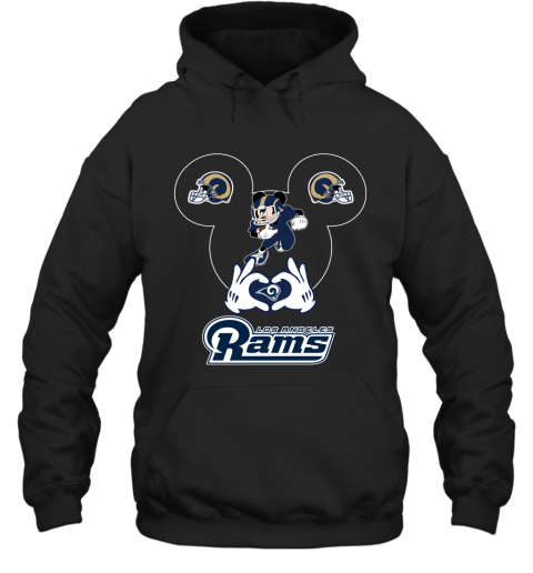 I Love The Rams Mickey Mouse Los Angeles Rams Hoodie