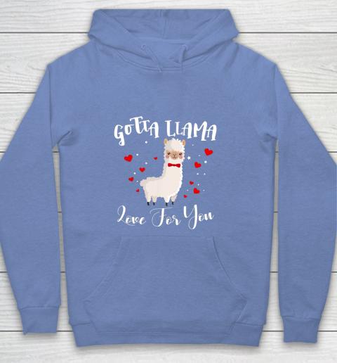 Gotta Llama Love For You Valentine Llamas Gift Youth Hoodie 8