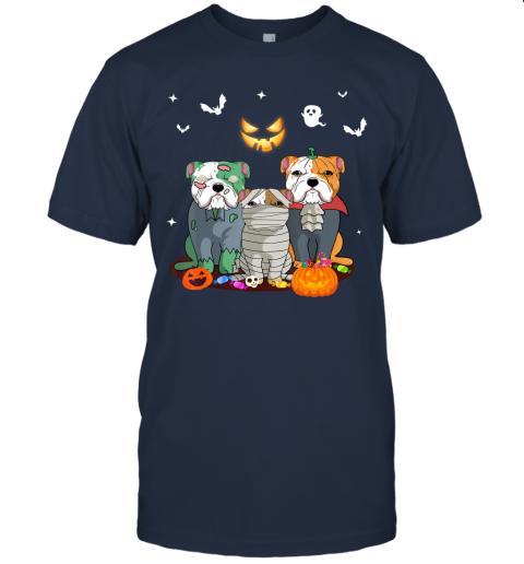 Halloween French Bulldog Witch Cute French Bulldog Lover T-Shirt