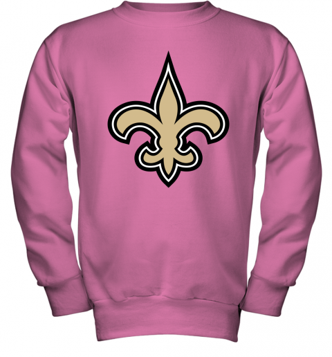 o7io orleans saints nfl pro line gray victory youth sweatshirt 47 front safety pink