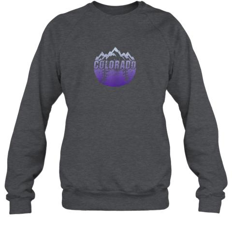 cr0h colorado baseball rocky mountains sweatshirt 35 front dark heather