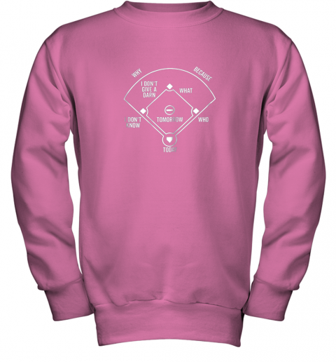 0krr who39 s on first shirt funny positions dark youth sweatshirt 47 front safety pink