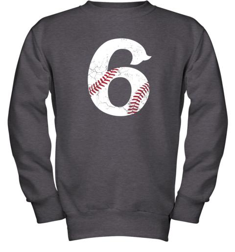 wmvt kids happy birthday 6th 6 year old baseball gift boys girls 2013 youth sweatshirt 47 front dark heather