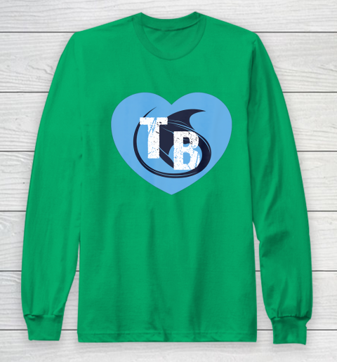 Stingray Love Tampa Bay Vintage TB Cool Tampa Bay Heart Long Sleeve T-Shirt 7