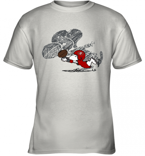 San Fracisco 49ers Snoopy Plays The Football Game Youth T-Shirt