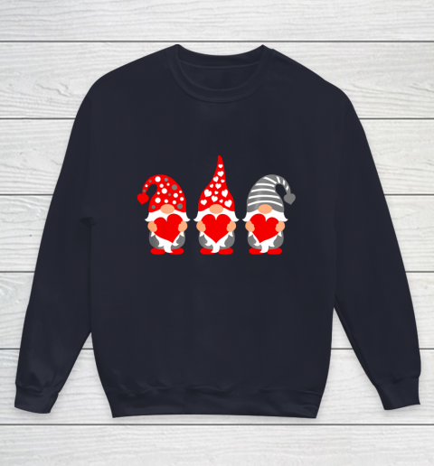 Gnomes Hearts Valentine Day Shirts For Couple Youth Sweatshirt 2