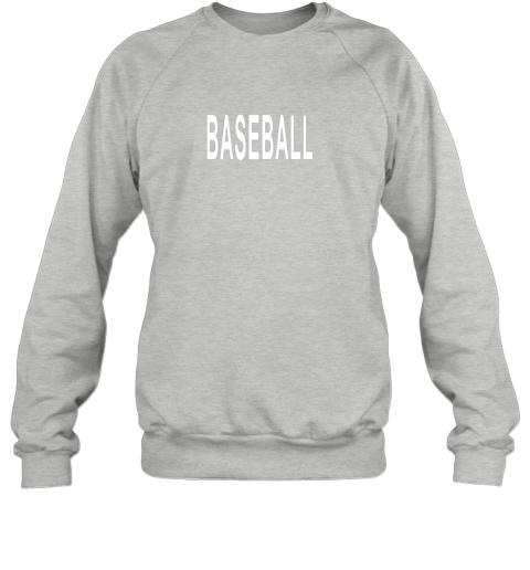 cyws shirt that says baseball sweatshirt 35 front sport grey