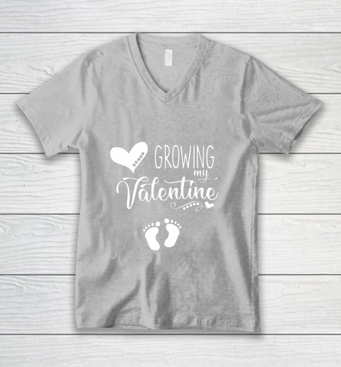 Growing my Valentine Tshirt for Wife V-Neck T-Shirt 11