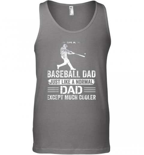 nvfn mens i39 m a baseball dad like a normal dad just much cooler unisex tank 17 front graphite heather