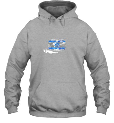 4klk vintage baseball israel flag shirt israelis pride hoodie 23 front sport grey