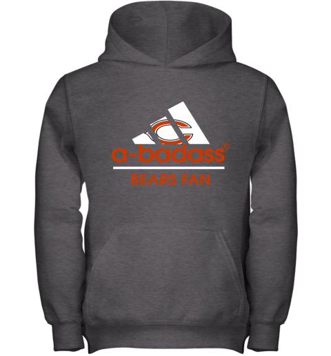m8ol a badass chicago bears mashup adidas nfl youth hoodie 43 front dark heather