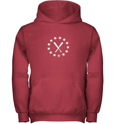 25vb baseball with bats shirt baseballin player gear gifts youth hoodie 43 front red
