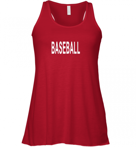 8tzi shirt that says baseball flowy tank 32 front red