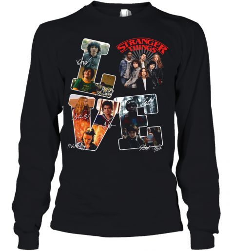 Love Stranger Things Signatures Youth Long Sleeve