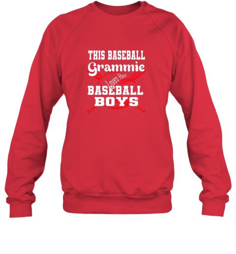 91nx this baseball grammie loves her baseball boys sweatshirt 35 front red