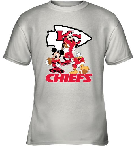 Mickey Donald Goofy The Three Kansas City Chiefs Football Youth T-Shirt