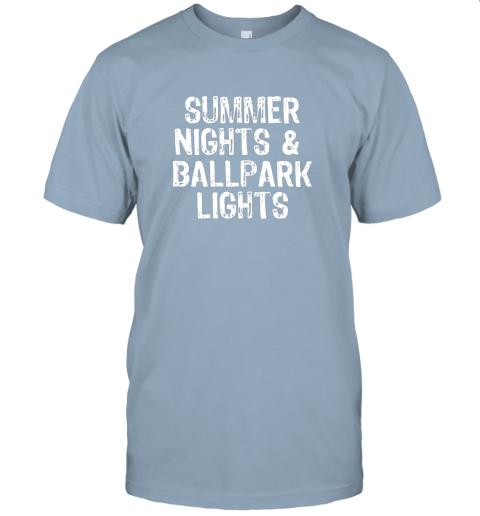 8qqh summer nights and ballpark lights baseball softball jersey t shirt 60 front light blue