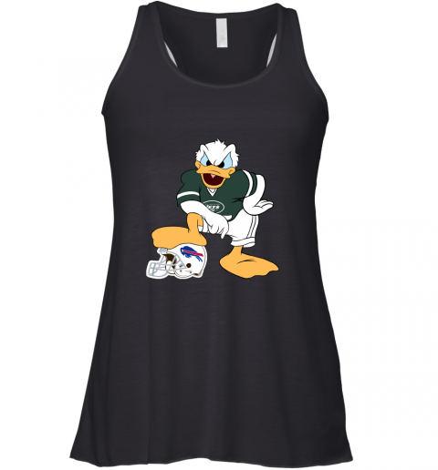 hur6 you cannot win against the donald new york jets nfl flowy tank 32 front black