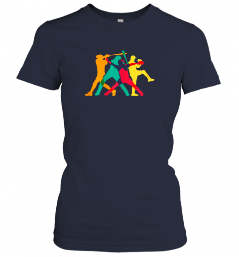 nhzf vintage baseball shirt gifts ladies t shirt 20 front navy