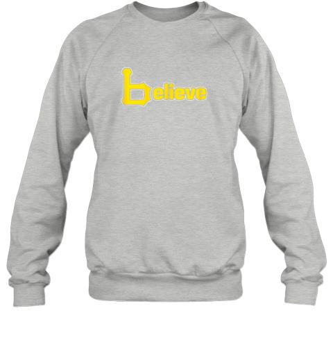 q60j sports believe baseball pirate gift fans of pittsburgh sweatshirt 35 front sport grey