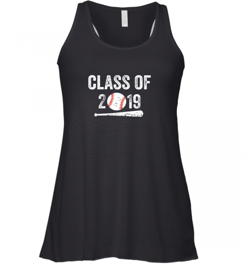 Class of 2019 Vintage Shirt Graduation Baseball Gift Senior Racerback Tank