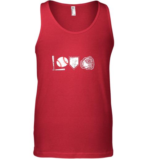 jggp i love baseball baseball heart unisex tank 17 front red