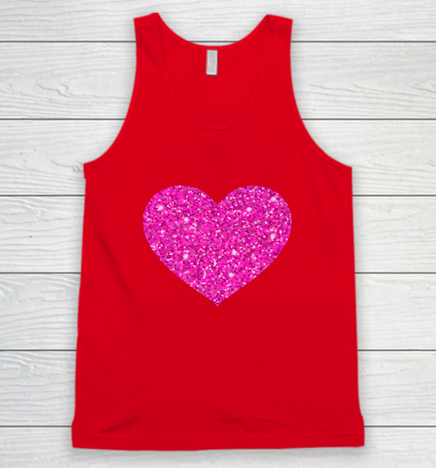 Pink Valentine Heart Love Fun Husband Wife Tank Top 5