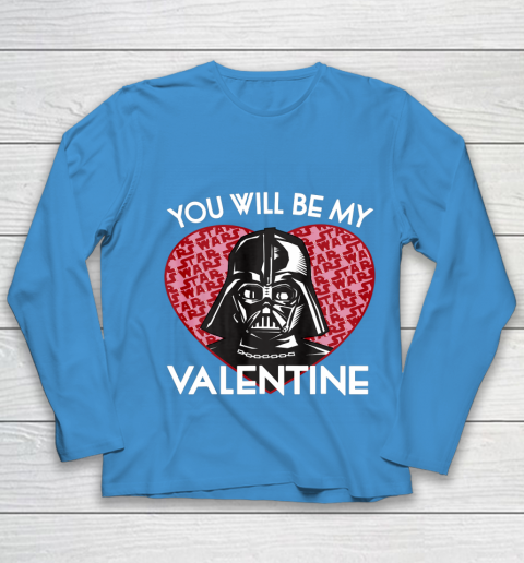 Star Wars You Will Be My Valentine Darth Vader Youth Long Sleeve 5
