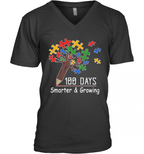100 Days Smarter V-Neck T-Shirt