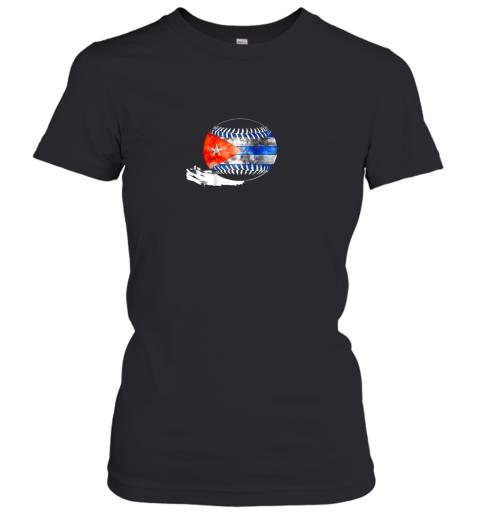 Vintage Baseball Cuba Flag Shirt Cuban Pride Women's T-Shirt