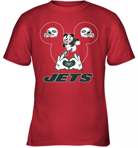 duq2 i love the jets mickey mouse new york jets youth t shirt 26 front red