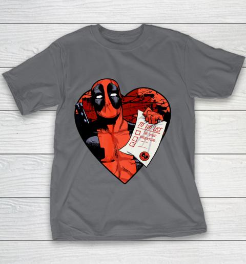 Marvel Deadpool Valentine To Do List Youth T-Shirt 5