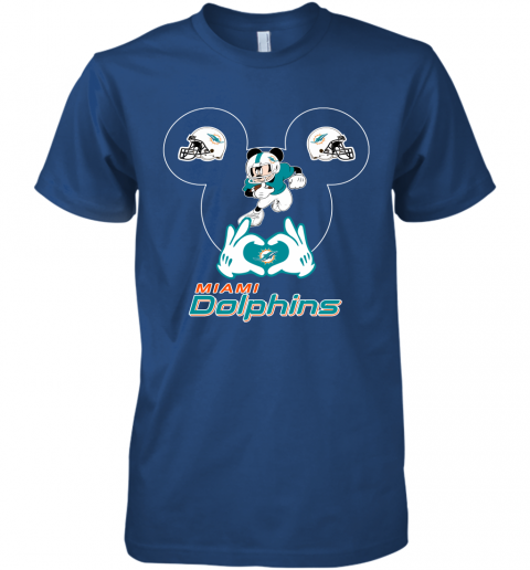 gqrj i love the dolphins mickey mouse miami dolphins premium guys tee 5 front royal